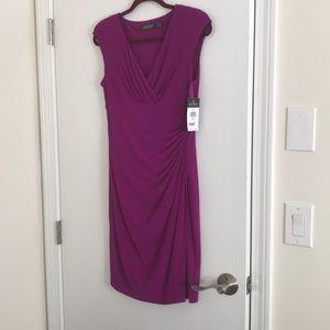 Magenta ruched dress
